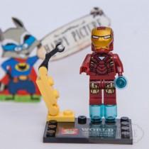 Фигурка Лего -  Железный человек (красн. костюм)