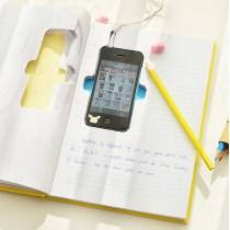 Блокнот с вырезом для телефона