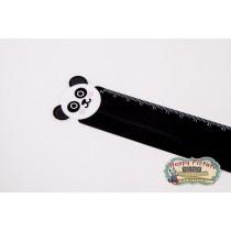 Линейка тонкая Панда пластик.