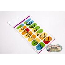 Слайдеры для ногтей (10см*6см) Краска
