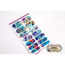 Слайдеры для ногтей (10см*6см) Бабочки нарисованые краской