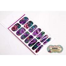 Слайдеры для ногтей (10см*6см)  Фиолетовые цветы