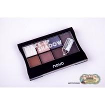 Тени для век Make up shadow NOVO (8 цветов)