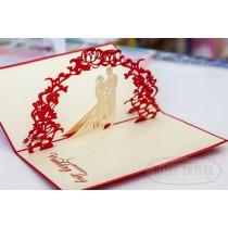 "3D открытка ""Wedding day"""