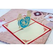 """3D открытка """"Сердечко с бабочкой"""""""