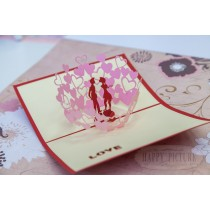 "3D открытка ""Целующаяся парочка"""