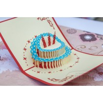 """3D открытка """"Торт со свечками"""""""