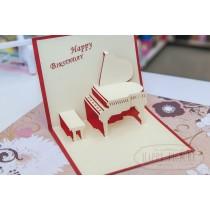 """3D открытка """"Пианино"""""""