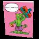 """Поздравительная открытка из серии коты супер герои  """"Халк"""""""