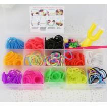Набор резиночек  для плетения браслетов. 13 видов резиночек