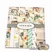 Набор бумаги и наклеек для скрапбукинга  Vintage deco paper pack (14л)