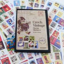 """Набор ретро наклеек-марок для декорирования  """"Чехия"""""""