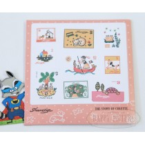 "Набор наклеек-марок для декорирования  ""The story of Collete"""