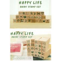 Набор печатей Happy Life (25 штук)