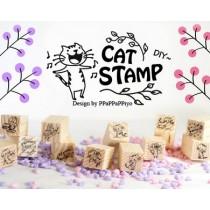 Набор печатей Cat  Stamp(12шт.)
