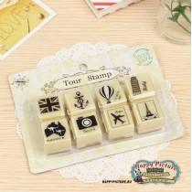 Набор печатей Tour Stamp (8шт.)
