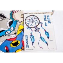 Переводная татуировка ловец снов голуб. (10,5смХ15см)