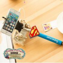 Монопод для селфи / селфипалка с проводком Супермен