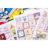 Набор наклеек марок  Маленький принц (4 листа)