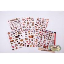 Набор наклеек Food collection (6 листов)