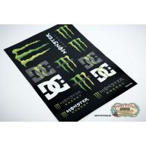 Наклейки для стикербомбинга (лист А4) Monster