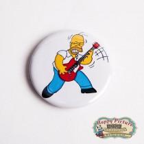 Значок  Гомер Симпсон c гитарой