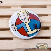 Значок Fallout - Vault Boy (блондин с большим пальцем)