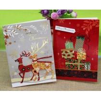 Открытка Merry Christmas (выпукл. бумажн. аппликация)