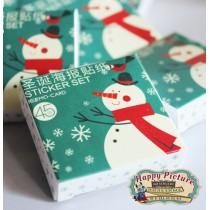 Новогодний набор  мини наклеек MO CARD sticker set (45 шт)