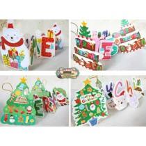 Новогодняя лента в виде животных MERRY CHRISTMAS (бумажн)