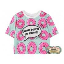 Кроп-топ Пончики Dont touch my phone (всеразм.)