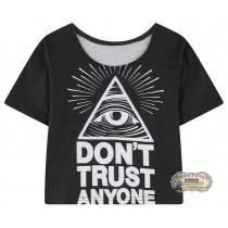 Кроп-топ Dont trust anyone (всеразм.)