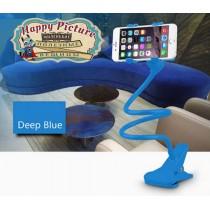 Гнущийся держатель для телефона (синий)