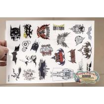 Наклейки для стикербомбинга (лист А4) Бетмены