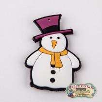 "Магнитик на холодильник ""Снеговик в шляпе"""