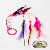 Цветные пряди с перьями для вплетания в волосы