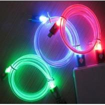 Провод зарядн.на Айфон 4/4s светящ.(дл. 1 метр)